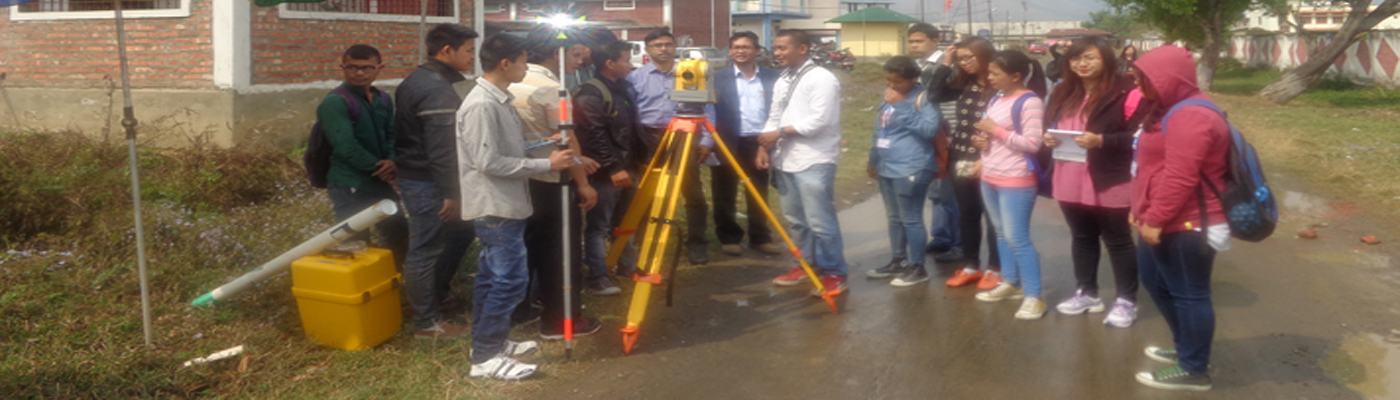 SURVEYING PRACTICAL BY CIVIL ENGG. STUDENTS